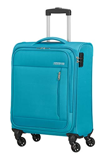 American Tourister Heat Wave Bagaglio a Mano Spinner S (55 cm - 38 L), Blu (Sporty Blue)