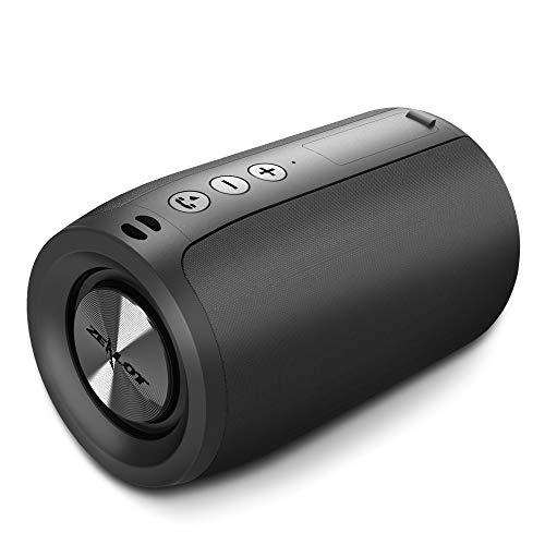 Enceinte Bluetooth, Mini Haut-Parleur Bluetooth 5.0 sans Fil with TWS, 15 Heures Autonomie Stéréo HD Microphone Intégré Port AUX/USB/SD Mains-Libres Compatible avec Téléphone Android iOS et Tablettes