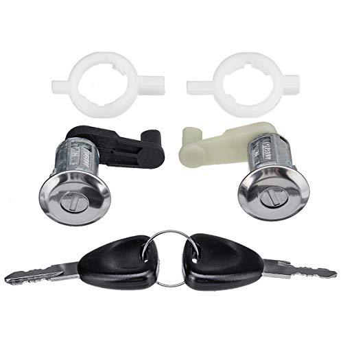 Viviance links en rechts auto deur slot vat cilinder w/2 sleutel voor RENAULT MEGANE SCENIC CLIO MASTER