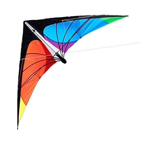 TX GIRL 72-Zoll-Power-Lenkdrachen Dual Line Mit Handgriff Und Linie 1.8m Dreieck Kite Gut Fliegen Spielzeug Strand Außen Sport (Size : 72 Inch)