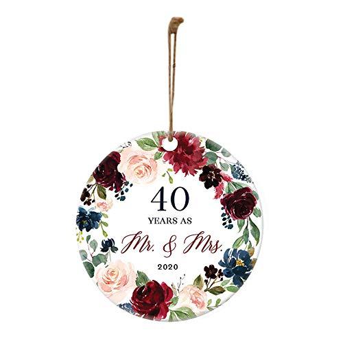 VEFSU 2020 Christmas Christmas Ornament Keepsake Married Mr & Mrs Gift Wedding Anniversary Decorations(F)