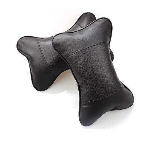 FGF 2 Piezas Almohada Cuello Cojin Cojin Suave Reposacabezas Cojin de Coche negro negro