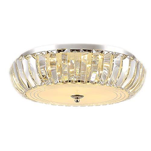 Plafonnier 40 / 50cm lumière chaude gradation plafonnier de la chambre des maîtres lampe en cristal de pièce ronde led luminaire (Couleur : Stepless gradation, taille : 50cm)