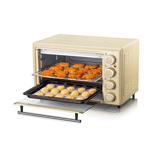 Sdesign Horno 30L eléctrica de múltiples Funciones Mini Hogar Horno de Cocina, 60 Minutos Timer, 230 ° C de área Amplia de Control de Temperatura (Amarillo)