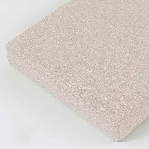 BoruisX Cojín de banco de 8 cm, 2 cojines largos de 3 plazas, cojín de banco de 100/120/150 cm, cojín de asiento para interior o exterior, columpio de jardín (120 x 40 x 8 cm, beige)