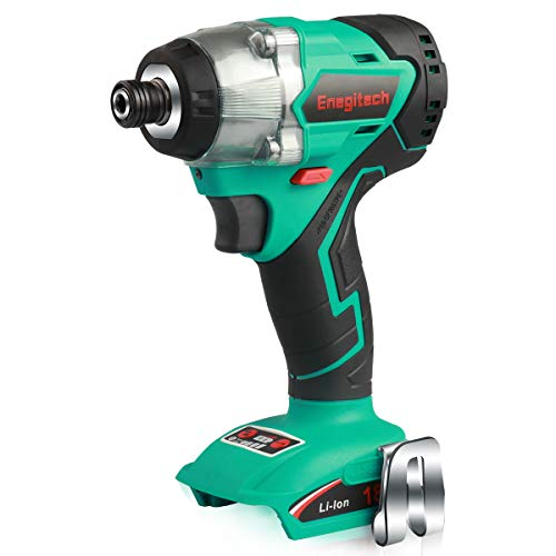 """Enegitech 18V Impact Driver, Brushless Cordless Electric Power Tool with 1/4"""" Hex Chuck, 4- Speed, LED Work Light ET02 (Body Only), Fit for Makita 18V Battery"""
