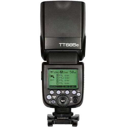 Godox TT685C - Flash (Flash Esclavo, Negro, 2,6 s, Canon, 5600 K, 10 m)