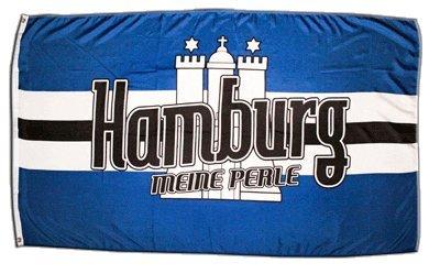 Flagge Fanflagge Hamburg Meine Perle 3 - 90 x 150 cm