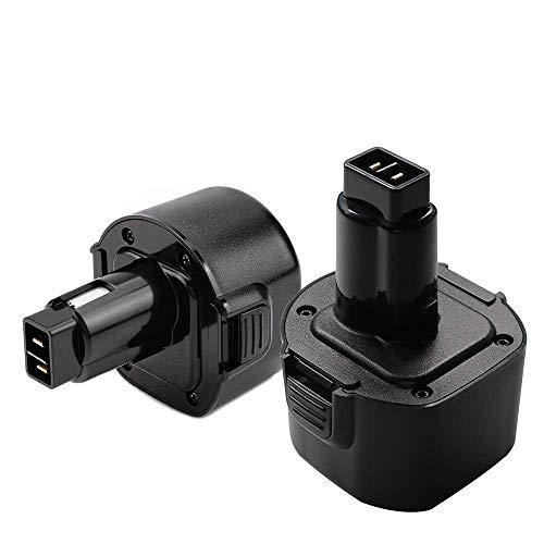 [2 Pack] 3.6Ah Ni-MH Replacement for Dewalt 9.6Volt Battery DW9061 DW9062 DW926 DW955 DW926K DW952K - Cordless Power Tools