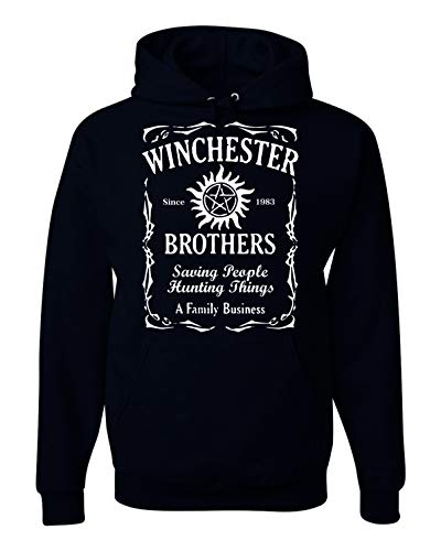Winchester Brothers TV Series Whiskey Style Unisex Hooded Sweatshirt - New Black (2XL)