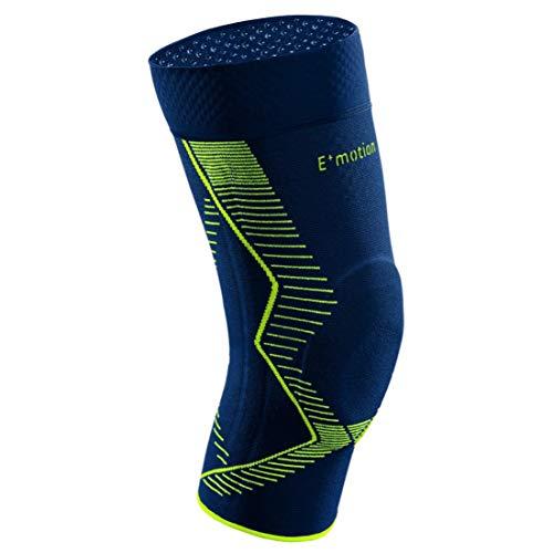 medi Genumedi E⁺motion - Kniebandage unisex | blau/grün | Größe 5 | Sportbandage für hohe Stabilität und extra viel Bewegungsfreiheit | Beidseitig tragbar