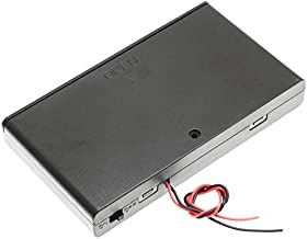 2 Set 8 x AA Thicken Battery Holder Base Box with ON/Off Switch and Wire and Cover by QTEATAK
