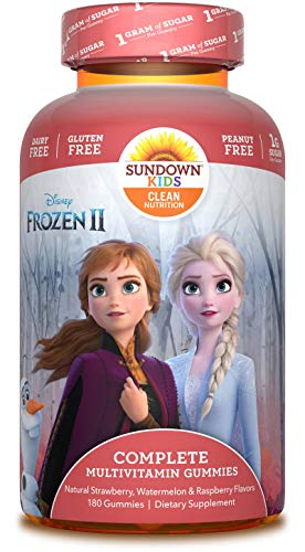 Sundown Kids Disney Frozen 2 Complete Multivitamin, 180 Count (Packaging May Vary) Alabama