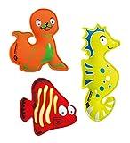 Schildkröt Neopren Tauchtiere, 3er Set Diving Animals bestehend aus 1 Seelöwe, 1 Seepferdchen, 1...