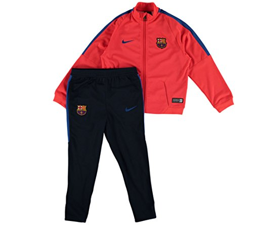 Nike FCB Y TRK Suit SQD LK K - Trainingsanzug FC Barcelona Rot - XS - Kinder