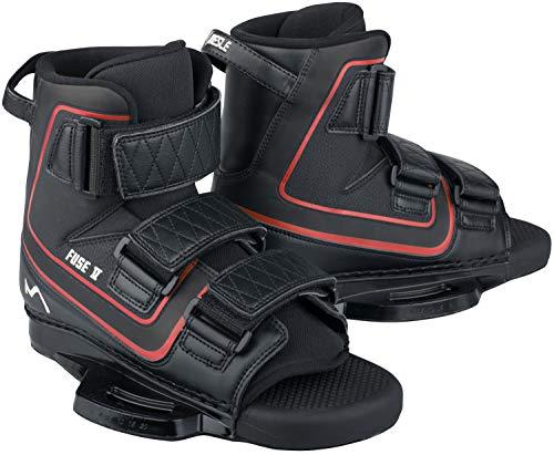 MESLE Wakeboard-Bindung Fuse V, Klettverschluss Bindung, Open Toe Boots mit 6'' Base Plate, enormer Halt, großer Verstellbereich, Größen:S-M