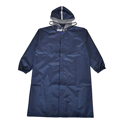 Ogawa [LINEDROPS Original] Raincoat for Kids and Juniors, Plain 4 Colors - Navy/55.1 inches (140 cm)