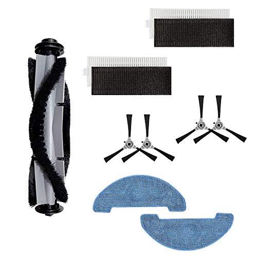 Yooria Kit 4 brosses latérales, 1 brosse à rouler, 2 chiffons, 2 filtre HEPA pour Venga VG rvc 3000 & Venga rvc 3000 BS aspirateur robot