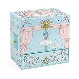 LXTIN Caja de música de Bailarina con cajones extraíbles Joyero Caja Musical de Cuerda de Bailarina giratoria Regalos para niñas