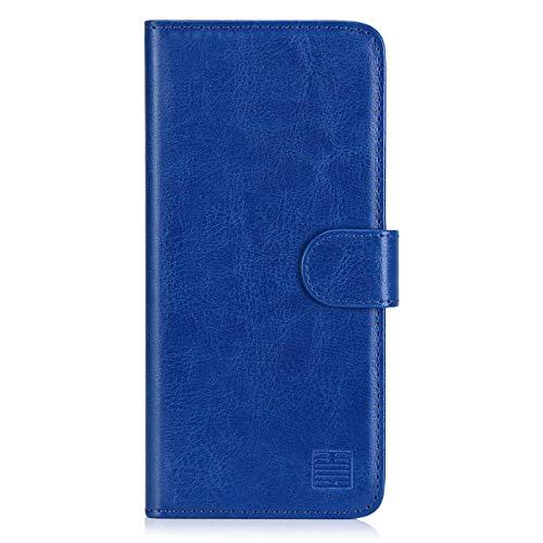 32nd PU Leder Mappen Hülle Flip Hülle Cover für Samsung Galaxy A41 (2020), Ledertasche hüllen mit Magnetverschluss & Kartensteckplatz - Blau
