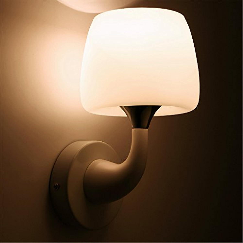 StiefelU LED Glas Wandleuchte gang Treppe Hyun-off Schlafzimmer Nachttischlampe hotel Engineering einzigen Dual-Head Hall Wandleuchten, 6013-1 D 18 W23 Pilz - Leiter der Glühlampe