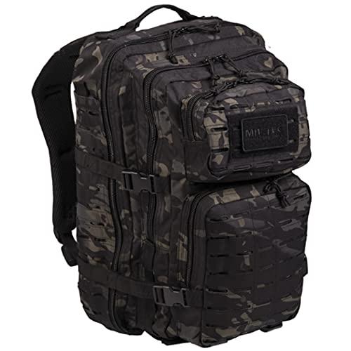 DARK CAMO 3 DAY Assault US Pack Molle Bag Rucksack | Backpack MILTEC | US Asssault 36L LARGE LaserCut | Mochila táctica Militar con sistema Molle Laser Cut