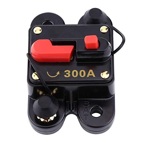 Akozon Leistungsschalter Reset Sicherung DC12V Leistungsschalter für Auto Marine Boat Bike Stereo Audio Reset Sicherung 80-300A Auto Marine Boat Bike Stereo Audio Reset Sicherung(300A)