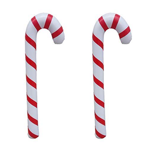 SUPVOX 2 Piezas de bastón de Caramelo Inflable Navidad Adornos de árbol de Navidad Ornamento