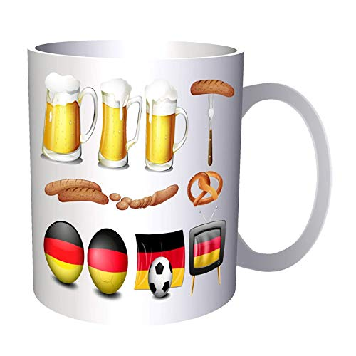 German Football Fan Flag 11Oz Mug V606
