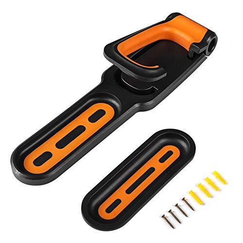 Valuetom Fahrrad-Wandhalterung, platzsparend, für Mountainbikes, Rennräder und mehr (schwarz und orange)