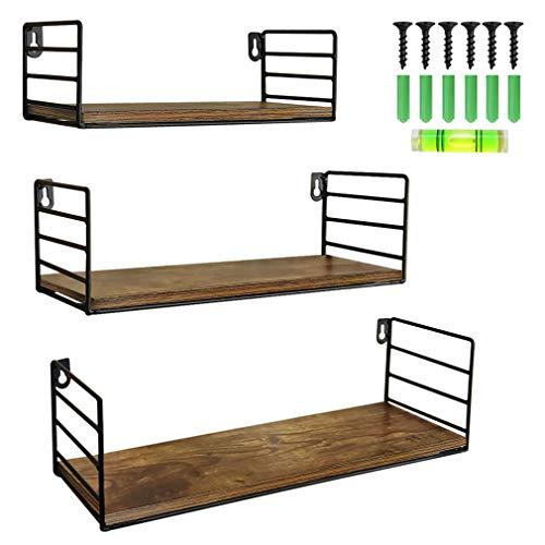 Floating Wall Shelf Set of 3 Storage Organizer for Shower Bathroom Bedroom Bedside Living Room Kitchen Hanging Wall Mount Shelves