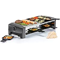 Princess 162820 Stone & Grill Party – Parrilla de piedra y plancha combinadas, placa reversible
