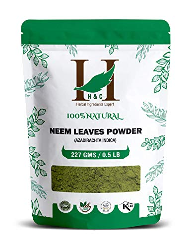 H&C Natural and Organically Grown Neem Leaves Powder, 227 Grams...