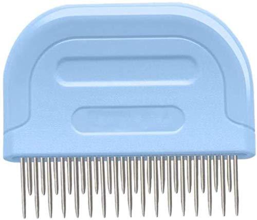YYhkeby Edelstahl tragbare Haarlinge Staubabscheider Comb Sanitär Bürste Kunststoffgriff Pet Supplies, B, M Jialele (Color : B, Size : Medium)