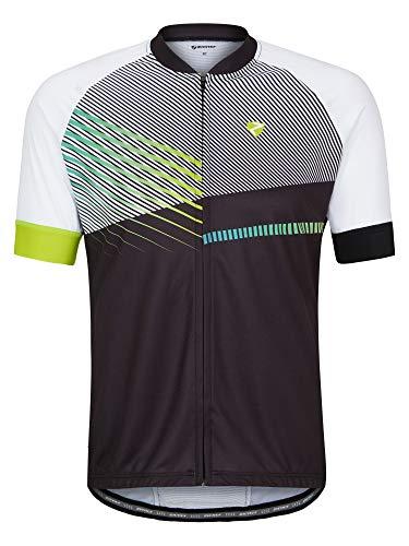 Ziener Herren NOFRET Fahrradtrikot/Radtrikot - Mountainbike/Rennrad - atmungsaktiv|schnelltrocknend|elastisch|funktionell, Black, 54
