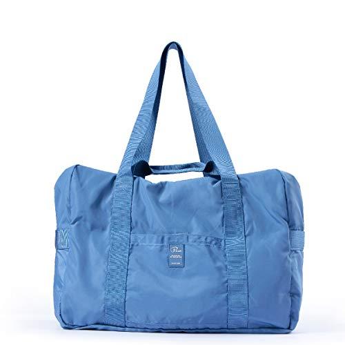 TRIWONDER Borsone da Viaggio Borsa da Palestra Borsoni Grandi Boston Bag per Valigie Bagagli Viaggio Aereo Campeggio Escursionismo (Blu)