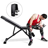 MaxKare Weight Bench Adjustable Foldable Incline Decline Bench with 882lbs Weight Capacity, 7+3+2 Positions, Automatic Lock Multi-Purpose Workout Exercise Bench for Home Gym
