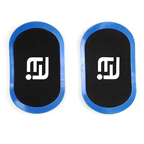SKAL Core Sliders Gliding Discs Gleitscheiben Doppelseitige für Bauchmuskeltraining Fitness Home Gym abs Trainer (Blau)