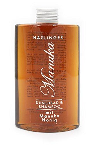 HASLINGER Nr. 6542, Manuka Shampoo & Duschbad mit Manuka Honig 200ml, Luxuskosmetik