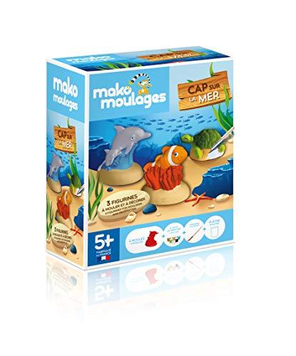 mako moulages - kit créatif - 3 moules Animaux de la mer