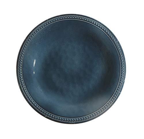 Marine Business–Set di 6Piatti Dessert, Melamina 21.5x21.5x2.2200000000000002 cm Laguna Blu