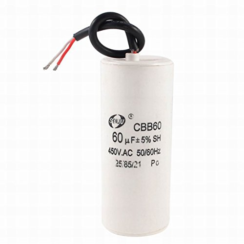 Ugtell Motor Capacitor Cbb60 capacitance 60Uf 450Vac frequency 50/60Hz white capacitor (60Uf)