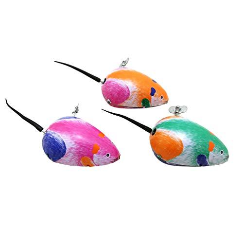 VOSAREA 3 Stücke Aufziehmaus Aufziehspielzeug Spielmaus Blechspielzeug Aufziehfigur Wind Up Figur Uhrwerk Spielzeug Halloween Weihnachten Geschenk für Baby Kinder Katzenspielzeug