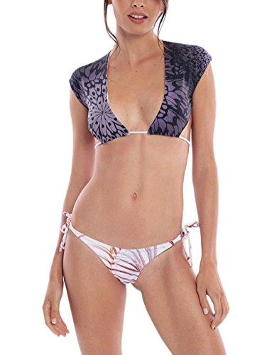 Biquinis Mujer 2018 Vintage Estampado Flores Sin Espalda Tankini Verano Moda Casual...