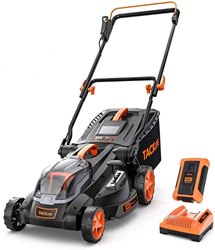 TACKLIFE Cordless Lawn Mower, 16-Inch 40V Brushless Lawn...
