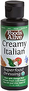Foods Alive Superfood Dressing,  Creamy Italian, Organic, 4oz