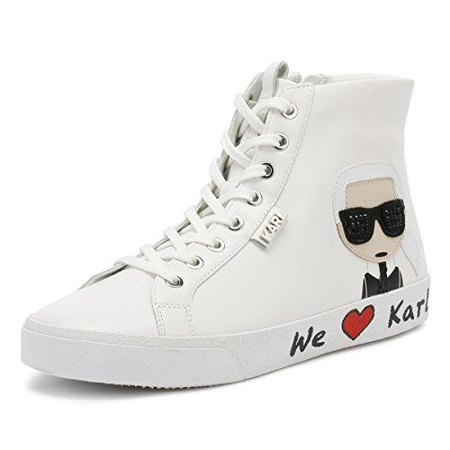 Karl Lagerfeld Skool Karl Ikonic Hi Lace Weiß Damen Sneakers-UK 7