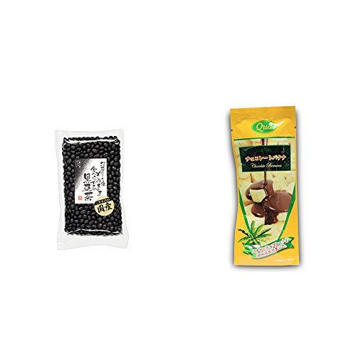 [2点セット] 国産 黒豆茶(200g)・フリーズドライ チョコレートバナナ(50g)