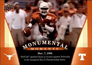 James Brown football card (Texas Longhorns) 2011 Upper Deck #89 Monumental Moments