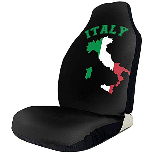 Sobre-mesa Mapa de Italia Bandera Colorida Muestra de Moda Cubiertas de Asiento de automóvil Completo, Duradero Ajuste Universal La mayoría de los automóviles, Camiones, camionetas o Furgonetas